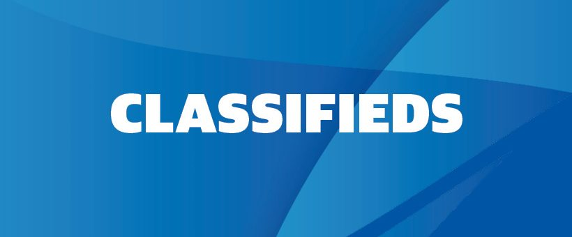 Classifieds – July / August 2020